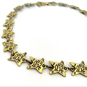 Jewelry - Hieroglyphics Inspired Star Link Collar Necklace
